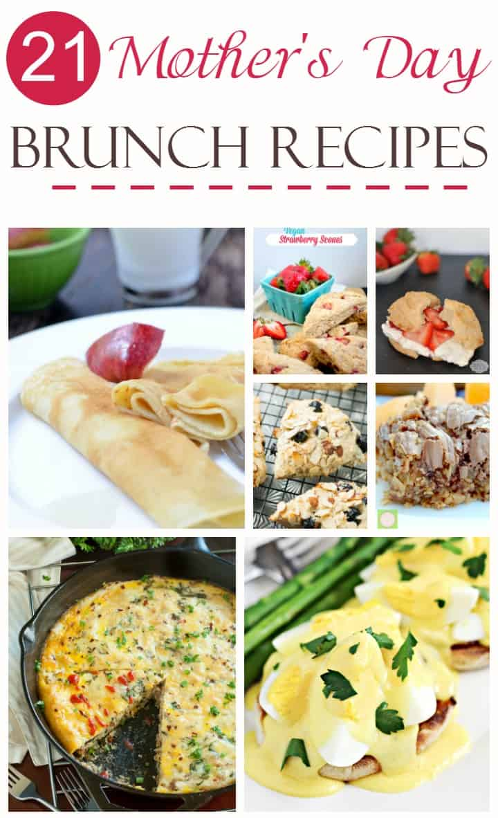 Treat mom to a delicious meal on her special day with these 21 yummy Mother's Day brunch recipes! Choose a few for one great meal or make a whole weekend of it and choose a bunch!