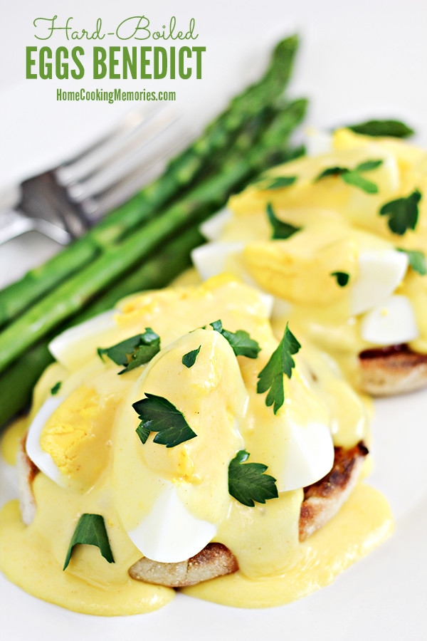 Hard Boiled Eggs Benedict Mother's Day Brunch Recipe