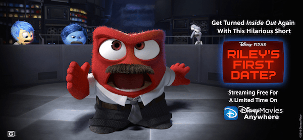 Stream the Inside Out bonus short, Riley's First Date?, free for a limited time! Find out how!