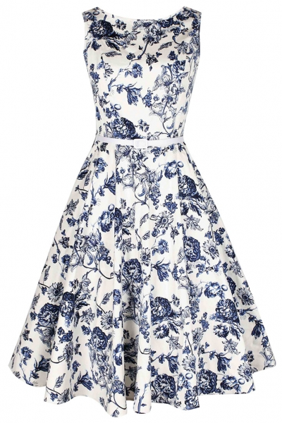 demure-floral-boat-neck-skater-dress
