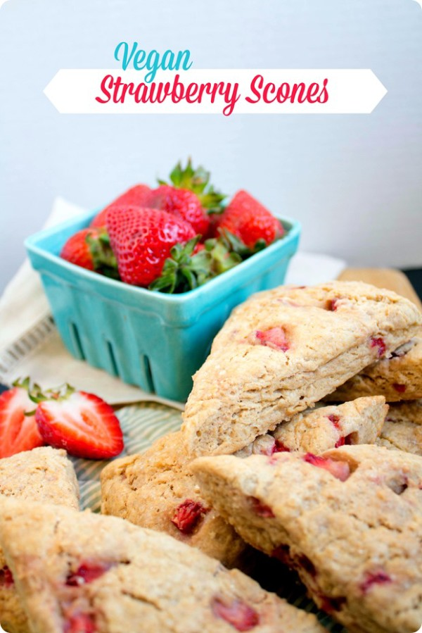 21 Crazy-Yummy Mother's Day Brunch Recipes Vegan Strawberry Scones