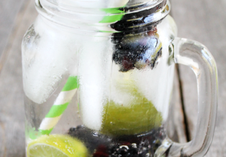 Blackberry lime spritzer non-alcoholic summer beverage