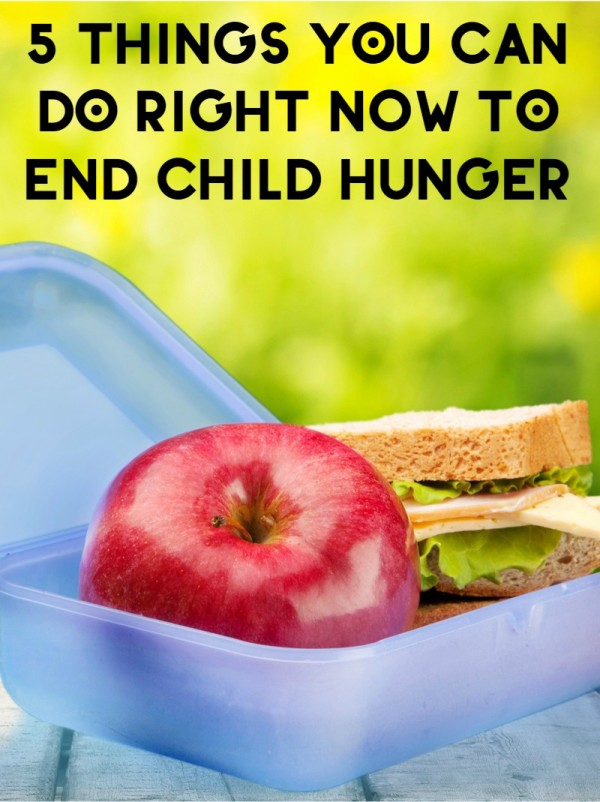 Did you know that 15 million kids are hungry right now in the US? That's 1 in 5 children who don't know where their next meal is coming from. Helping end child hunger is something we all need to get involved with. Fortunately, it doesn't have to be hard. Check out 5 things you can do right now to end child hunger.