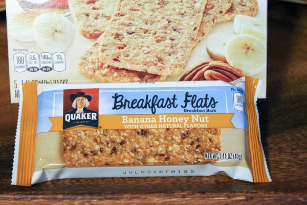 Every Mommy Bug Out Bag needs a great snack to keep you going during those crazy mornings! I'm loving new Quaker Breakfast Flats in my bag!