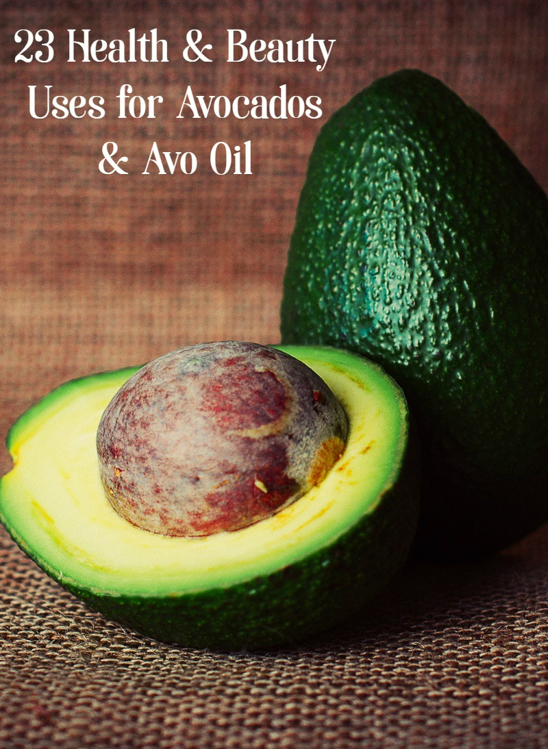 Avocados are a powerhouse of a fruit for so many reasons besides tasting great as guacamole! Check out 23 health & beauty uses for avocado and avo oil!