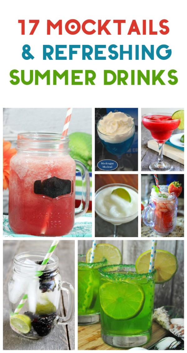 Need a few yummy non-alcoholic drink recipes for those lazy days lounging on your deck with a good book or those awesome summer parties? I've rounded up my all-time favorite refreshing refreshments and mocktails for the masses. All of these summer drinks are totally non-alcoholic and totally delicious! Try one or try them all!