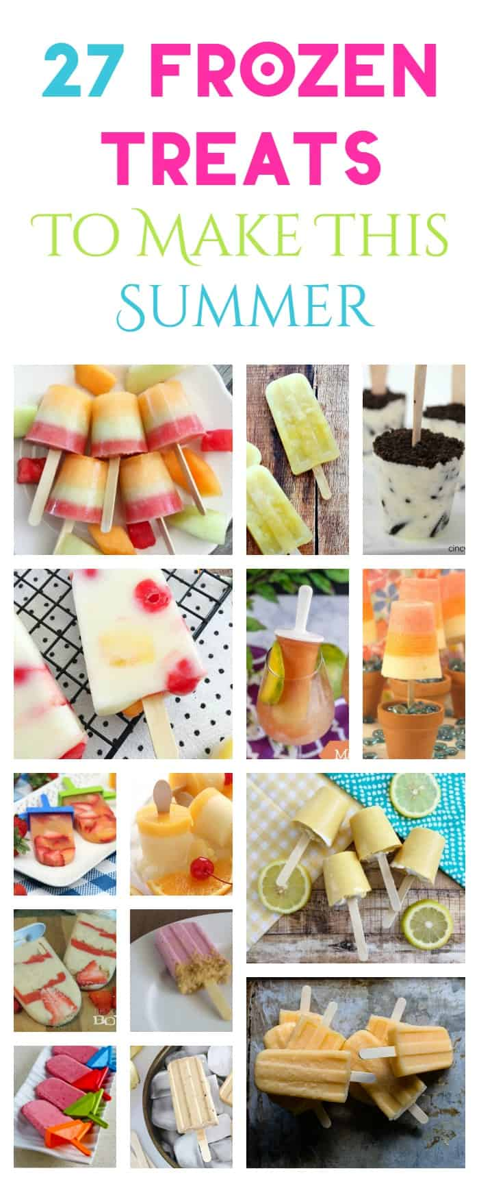 Nothing cools you off on a hot day better than a deliciously cold frozen ice pop. They're easy to make, totally portable and oh-so refreshing. Check out 27 of my favorite popsicles, ice-pops and frozen treats to make this summer!
