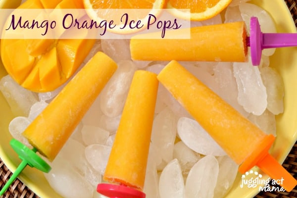 Delicious summer frozen treats, ice pops and popsicles