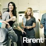 PARENTHOOD -- Season: 4 -- Pictured: (l-r) Dax Shepard as Crosby Braverman, Lauren Graham as Sarah Braverman, Erika Christensen as Julia Braverman-Graham, Peter Krause as Adam Braverman -- Photo by: NBC