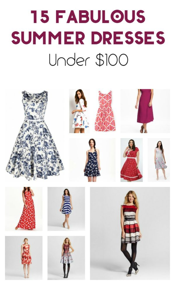 "From uber-feminine flowy ruffles to simple chic shirt dresses, summer 2016 is definitely the season of the dress. Admittedly, some of the dresses that hit the runway were a little impracticable for us ""everyday"" sort of people! No worries, there are plenty of great versatile dresses out there in just about every budget! Check out a few of my favorite summer dresses under $100!"