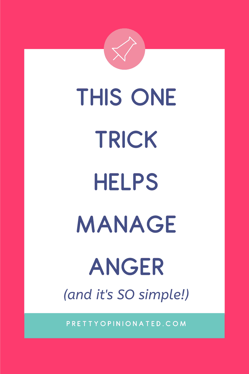 Anger wreaks havoc on your health, not to mention your relationships! I used to be mad all the time, but this little anger management trick really helped me learn to control it. Check it out!