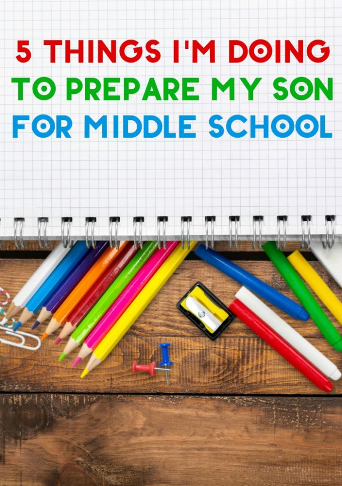 Like many kids, my son is really nervous about leaving behind elementary school and moving up in grades. I'm spending the summer trying to help him feel more confident so he's ready for the first day. These are the 5 things I'd doing to prepare my son for middle school.