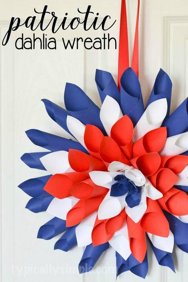Patriotic-Paper-Dahlia-Wreath