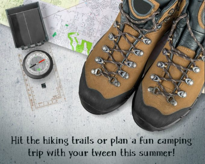 Hiking, Camping, Map.