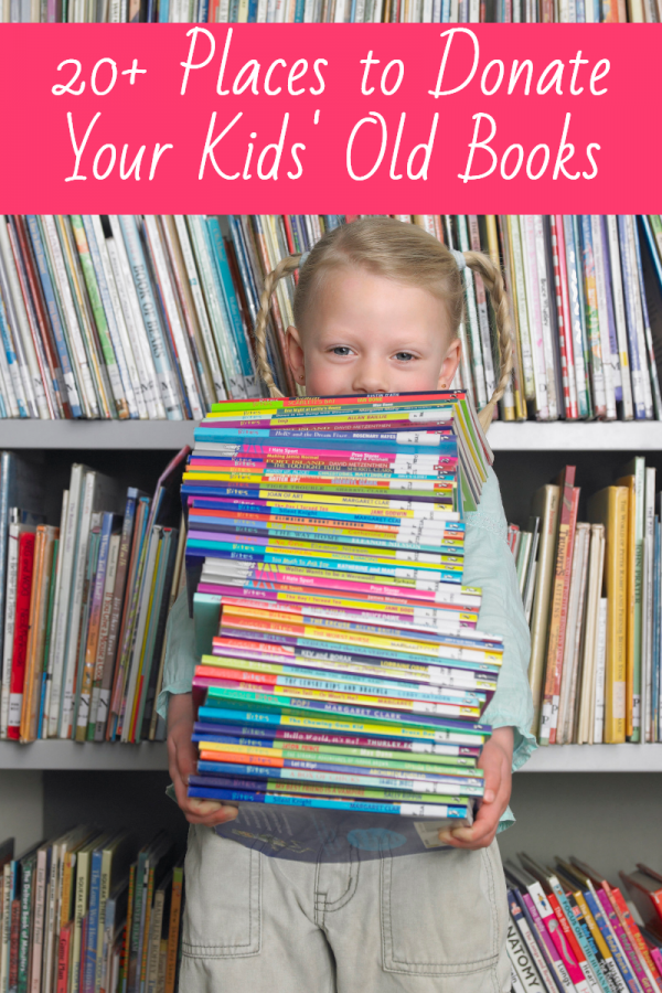 Do some good while clearing out the clutter in your library! Check out over 20 ideas and places to donate books for children.
