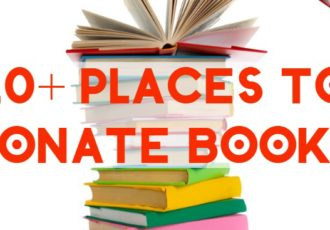 places to donate books f