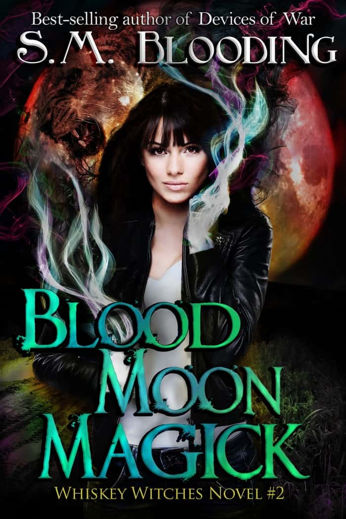 Continue the urban fantasy adventures of the Whiskey witches with Blood Moon Magic! Check out an excerpt from S.M. Blooding's fabulous book!