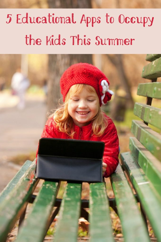 Looking for ways to keep kids entertained AND prevent summer slide? Educational apps are the best of both worlds!  Check out 5 great choices!