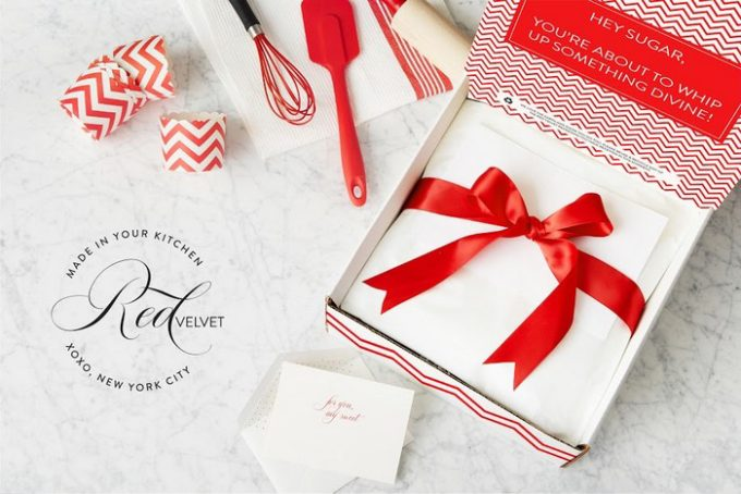 If you're looking for a fabulous housewarming gift idea, Red Velvet NYC has a bunch of gift sets that include the ingredients for a dessert plus the tools to make it.