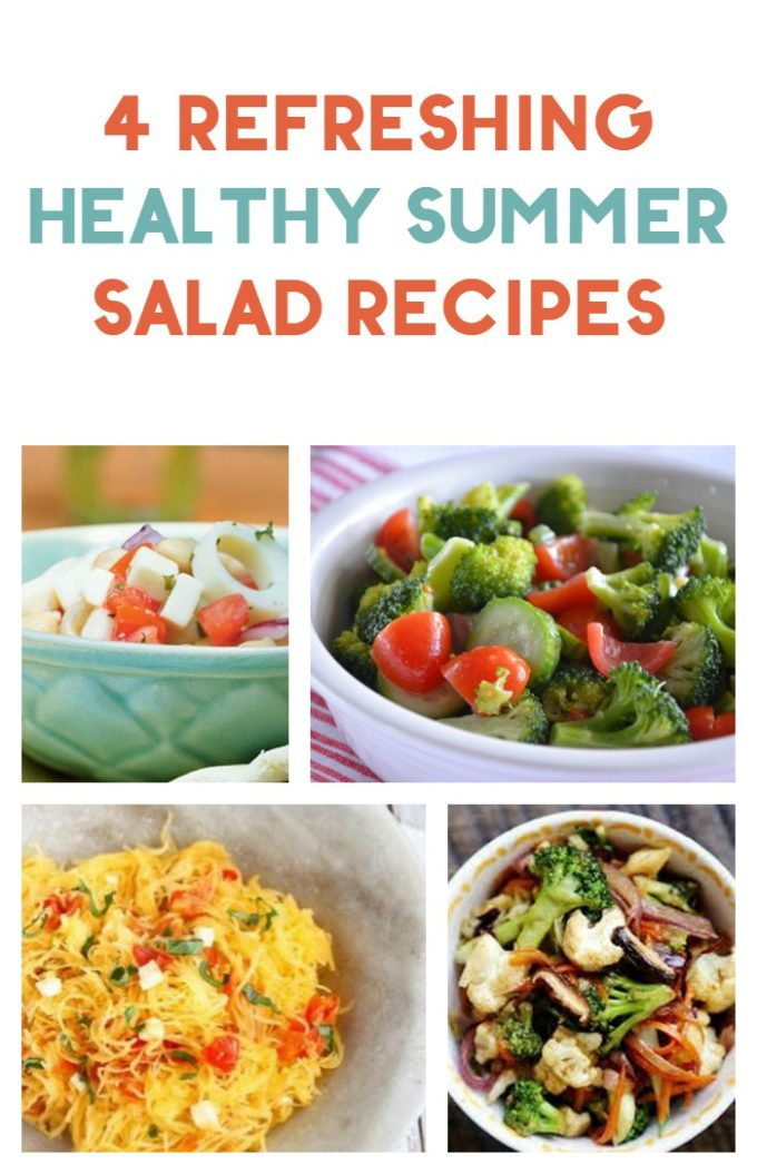 With temps reaching up into the 80s and 90s, no one wants to spend an hour in front of a hot stove, right? Skip the hot meals and fill your menu with refreshing summer salads instead! Check out 4 yummy healthy recipes!
