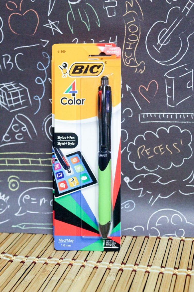 BIC® 4-Color Stylus and Pen: As I mentioned above, everyone's favorite 4-Color Pen got a major upgrade this year. It now includes a lightweight stylus on the top. Just flip it around and use it on your favorite electronics.