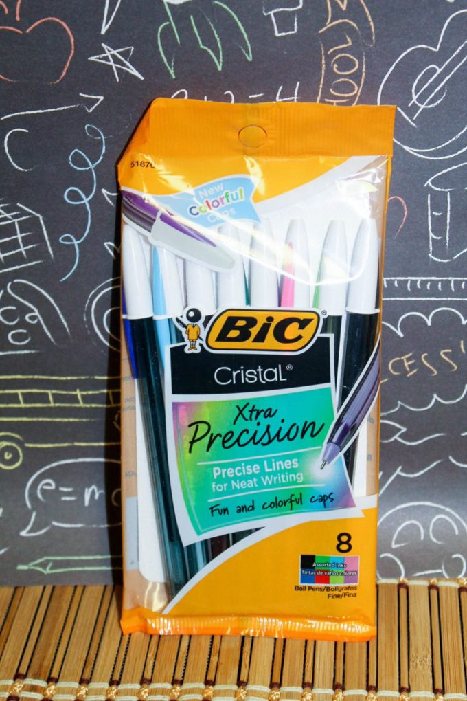 BIC® Cristal® Xtra Precision Ball Pen: The iconic Cristal pen got a modern update and now features vibrant two-toned caps. I love the way these write! The ink just glides across the paper.