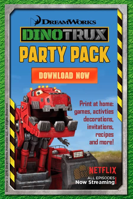 Looking for a fun party idea for your little one? Check out this super cute Dinotrux Party Pack, filled with free printables.