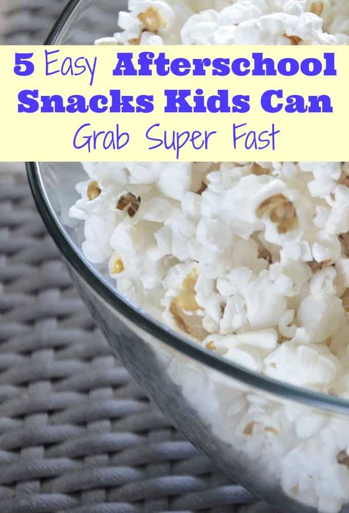 Yummy! Check out these easy afterschool snacks your kid can grab all by themselves super quick!