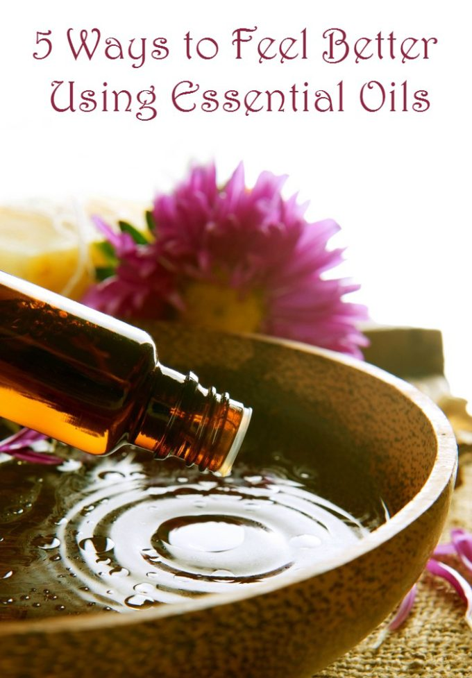 Essential oils are amazing for so much more than just making DIY beauty products! Check out 5 ways they help me feel better!