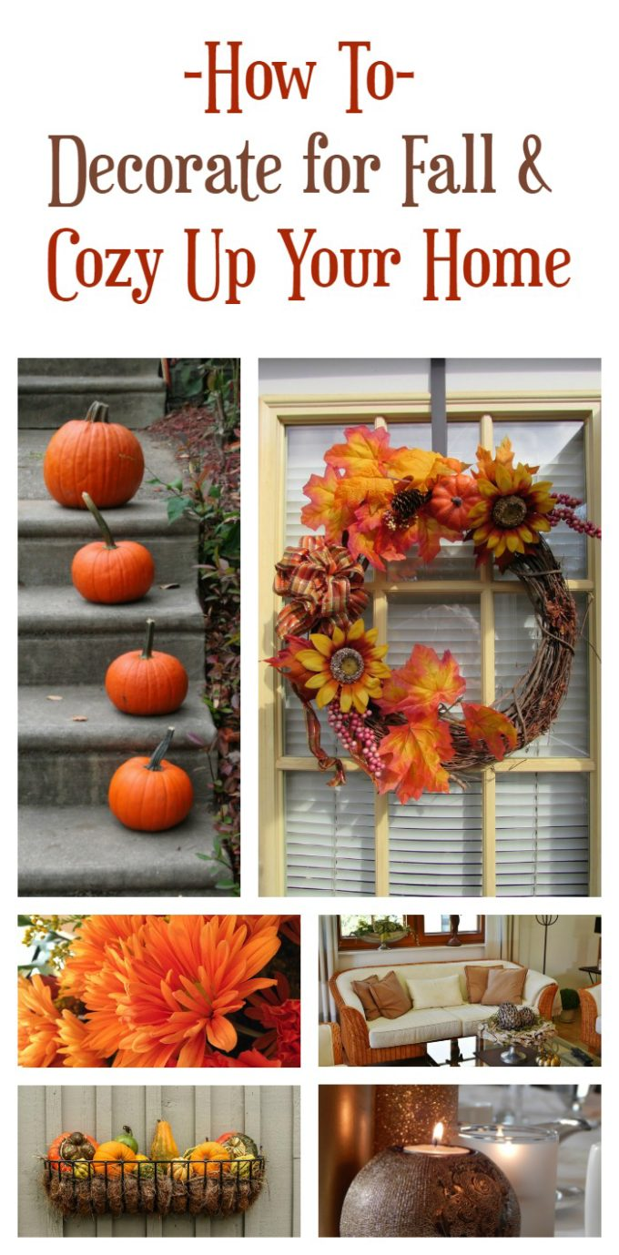 Awesome tips for how to decorate your home for fall and create a cozy atmosphere!
