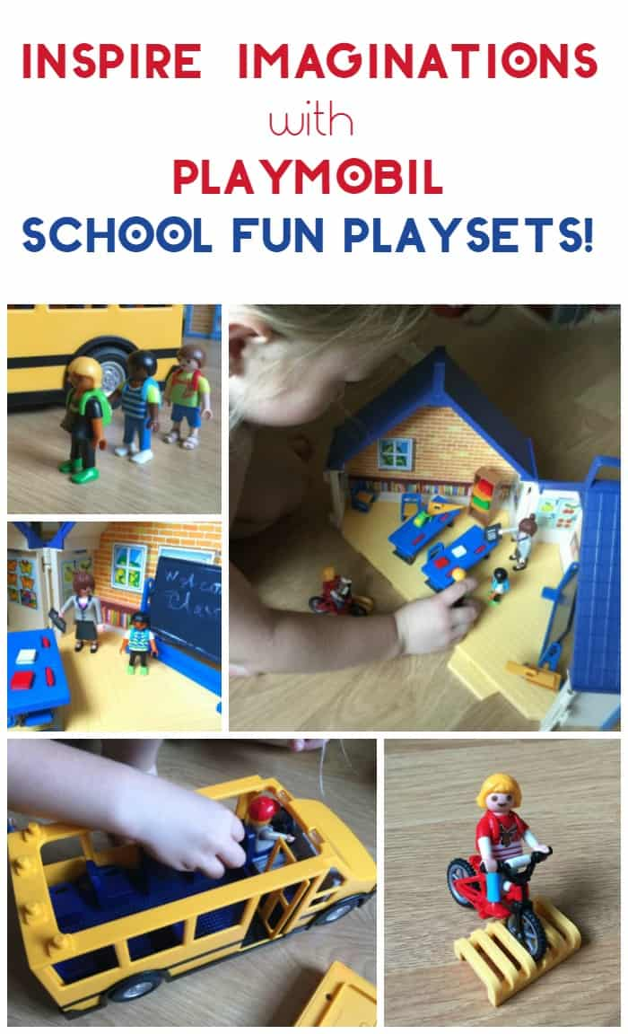 Inspire your kids to use their imaginations & get excited about their education with Playmobil school fun playsets! Check them out!
