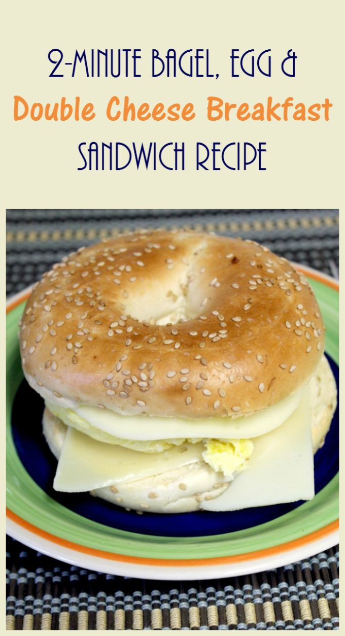 Make this yummy bagel, egg & double cheese sandwich in just 2 minutes! Check out the easy recipe!