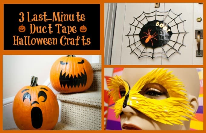 Three Last-Minute Halloween Duct Tape Projects Your Kids Will Love
