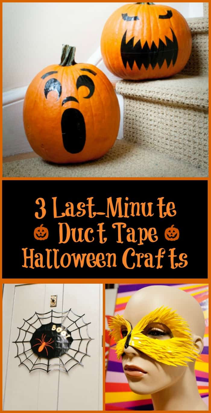 DIY Halloween Duct Tape Crafts: Make your own Halloween decor, masks and faux carved pumpkins with simple supplies!