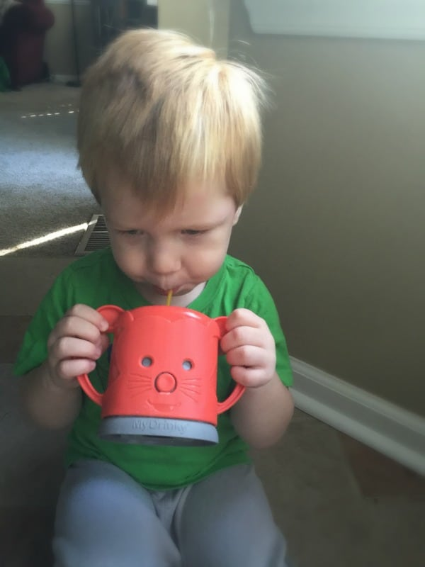 Promote Independence Without Messes with MyDrinky Adjustable Juicebox Holder for Kids
