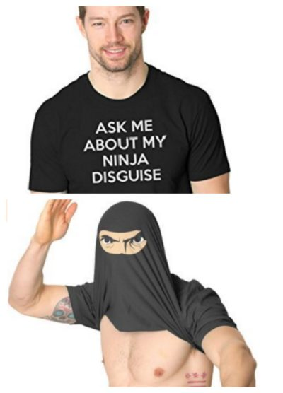 7 Hilariously Geeky T-Shirts That Will Be The Perfect Gift: Ninja Disguise