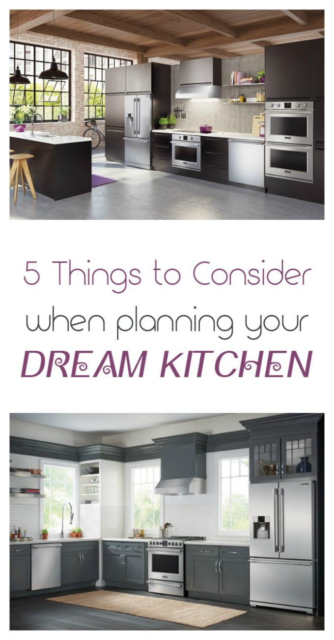 Check out 5 things to consider when planning your dream kitchen, plus see how @Frigidaire Professional can help make your dreams come true!