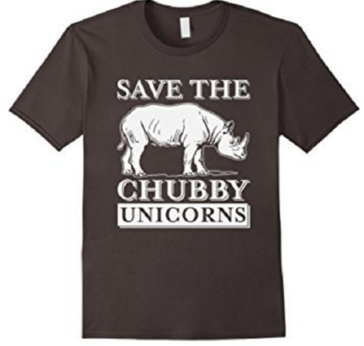 7 Hilariously Geeky T-Shirts That Will Be The Perfect Gift: Rhino Chubby Unicorn
