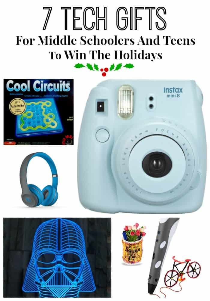 Holiday tech gifts are some of the coolest around for middle schoolers and teens. These seven gifts you need to add to your Christmas ideas list. Promise you will win the holidays!