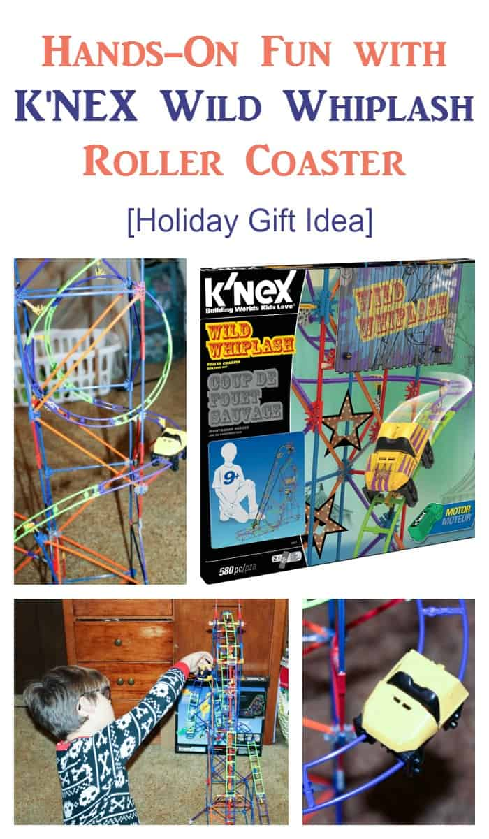 Looking for a great gift idea for your tween that will encourage him to put down the electronics for an afternoon? The K'Nex Wild Whiplash Roller Coaster provides hours of fun for you budding engineer! #WildWhiplash