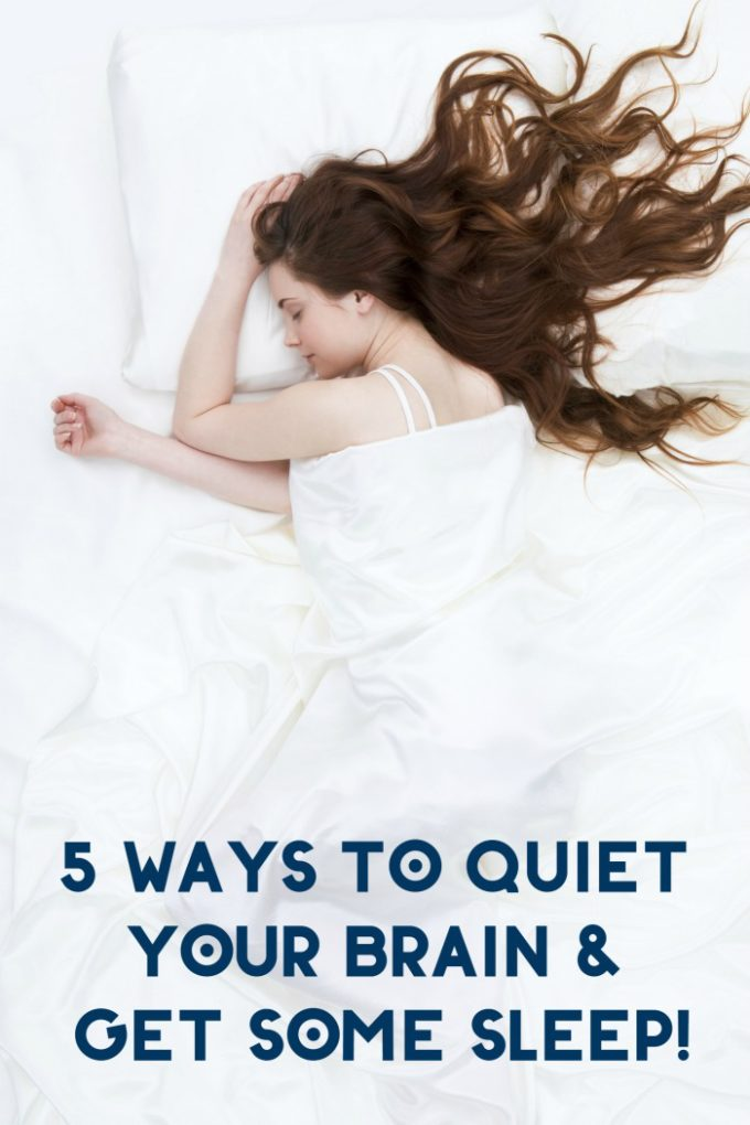 Can't fall asleep? Me either! Check out 5 things I do to quiet my brain so I can drift off!
