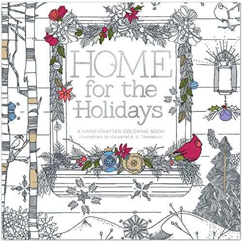 Need a break from the holiday madness? These fun and festive Christmas-themed adult coloring books should do the trick!