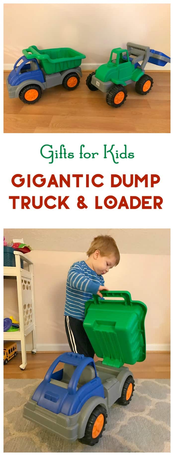 Looking for the perfect gift idea for kids who love trucks? You've never seen anything like the Gigantic Dump Truck & Loader!