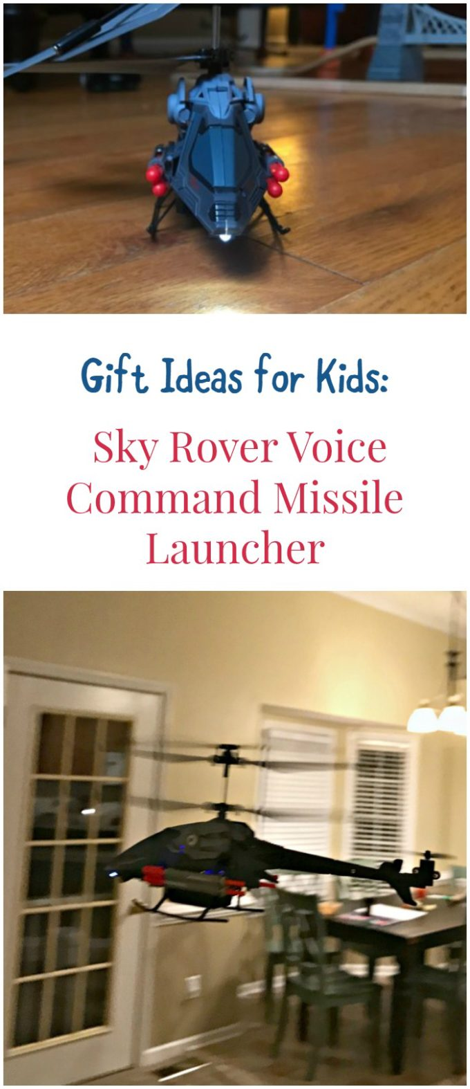 Gift Idea for Kids: Sky Rover Voice Command Missile Launcher by Auldey Toys