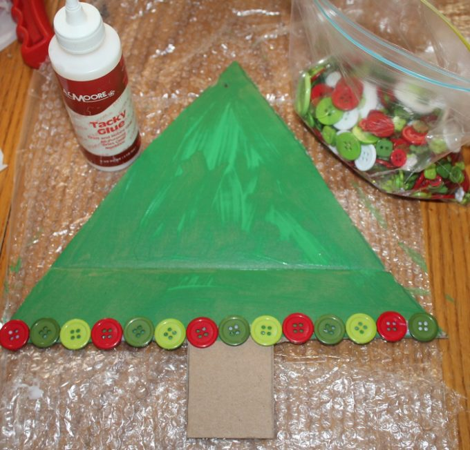 DIY Button Christmas Tree Craft