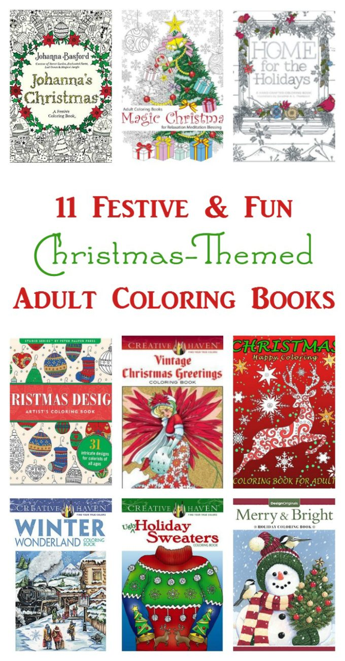 Need a break from the holiday madness? Relax with one of these 11 #Christmas adult coloring books!