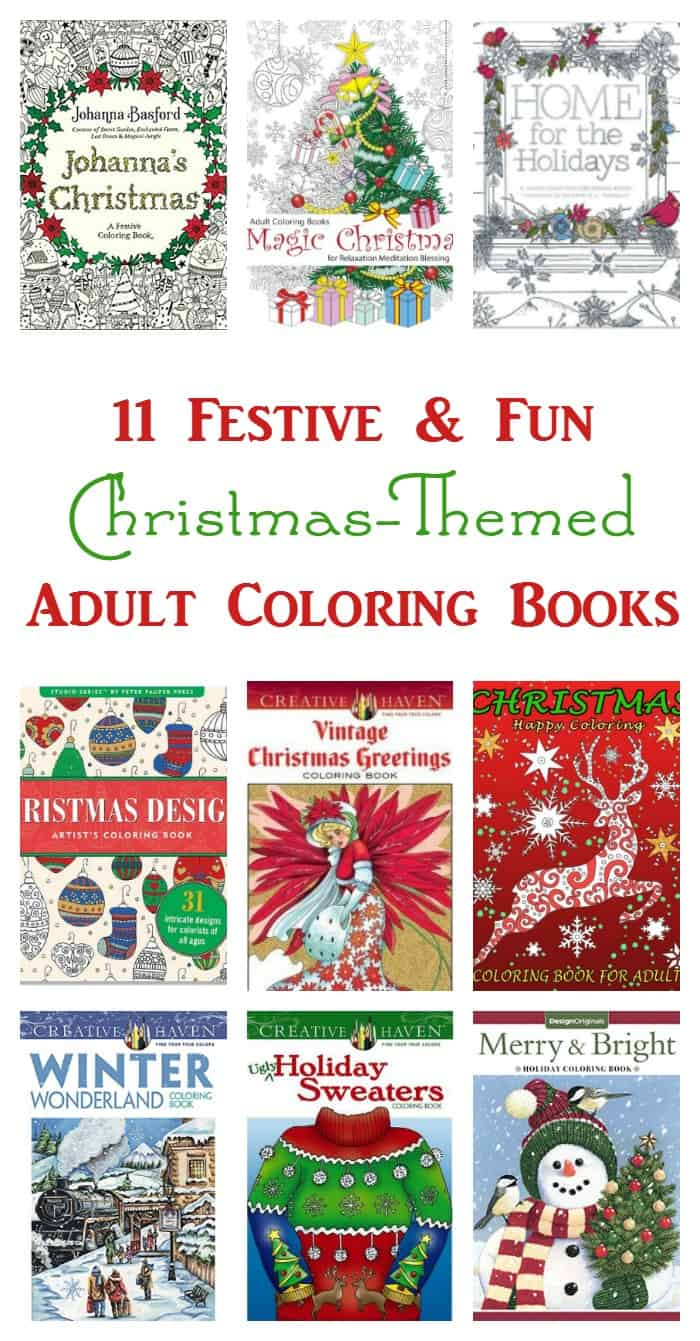 Need a break from the holiday madness? Relax with one of these 11 Christmas adult coloring books!