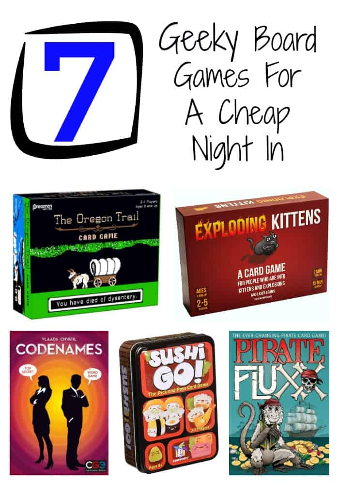 Have a cheap game night in with our fun family board games for tweens, teens, and adults. These games are perfect for your inner geek!