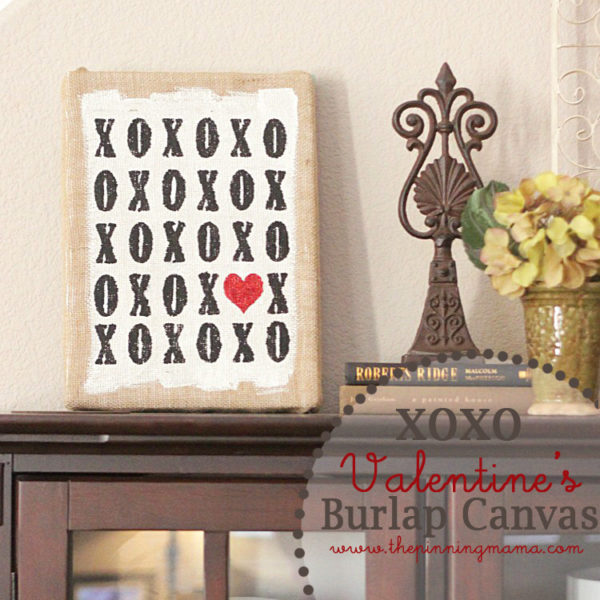 9 DIY Valentine's Day Decorations To Make Your Heart Beat: Burlap Canvas Home Decor