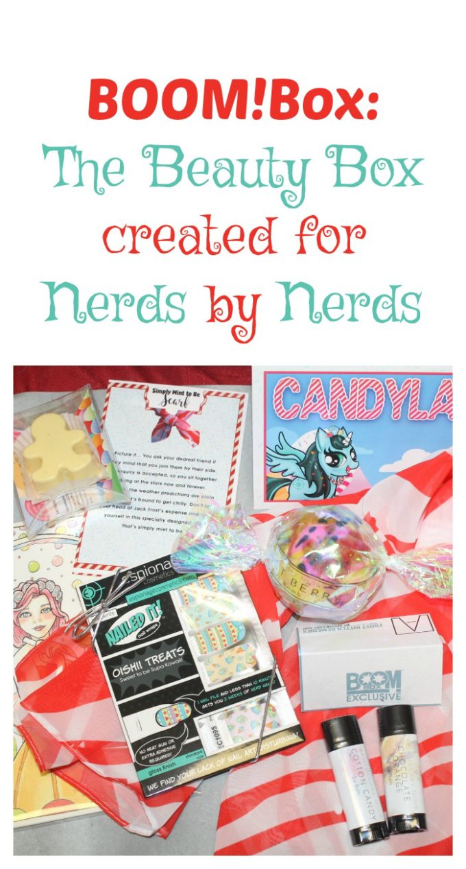 Looking for a beauty subscription box that shows off your inner geeky side? Check out BOOM!Box, created for nerds by nerds!